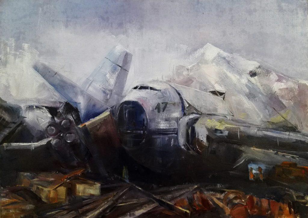 Николай Базунов. База 17. 2019. х.м. 25х35
